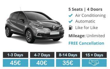 Rent  Renault Captur